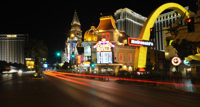 Download View Of The Night Las Vegas Near Casino Royale Editorial Stock Photo - Image of construction, casino: 22487698