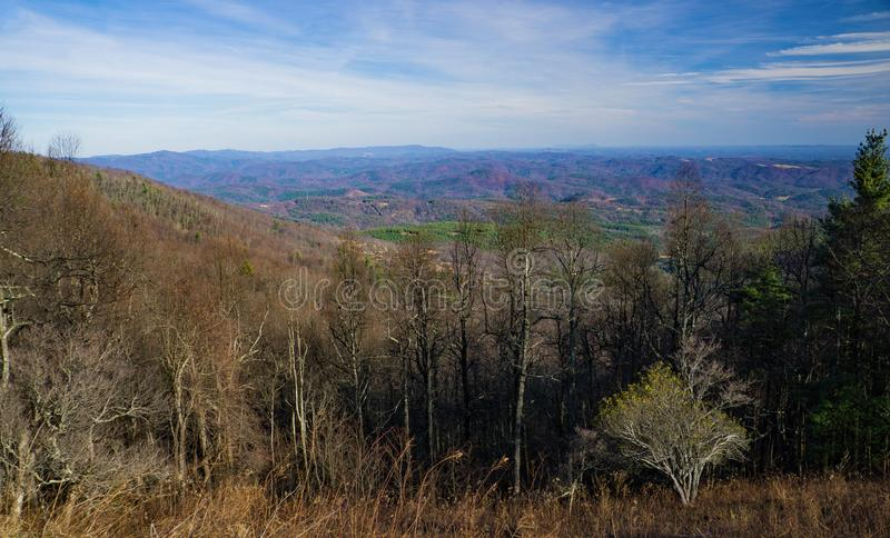 View of the North Carolina Piedmont - 3 royalty free stock image