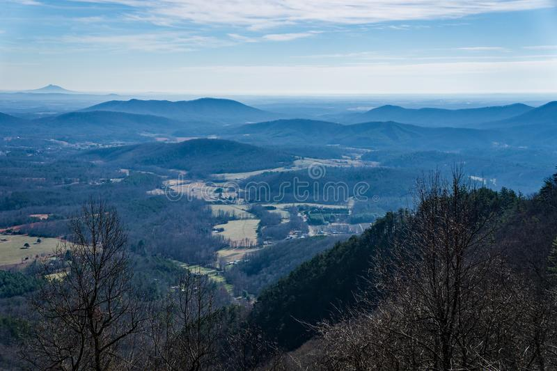 View of the North Carolina Piedmont - 2 royalty free stock image