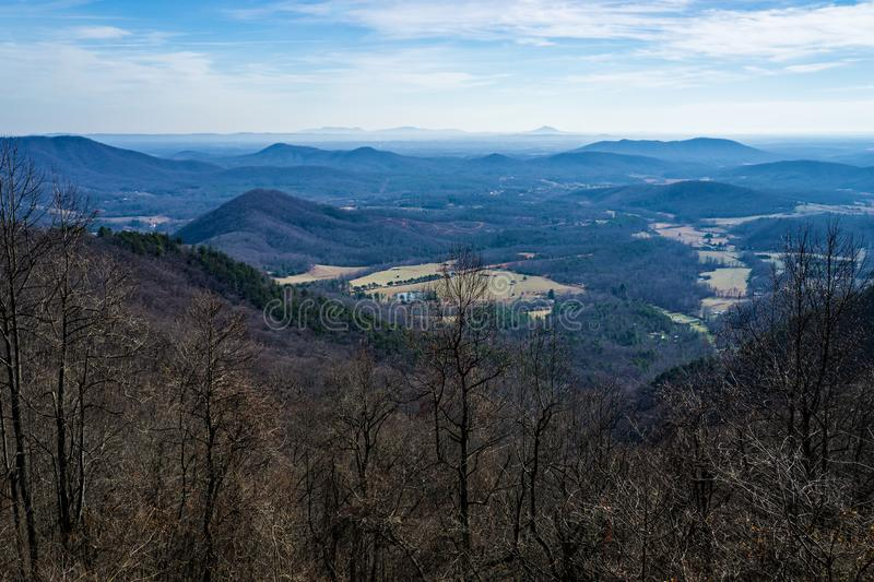 View of the North Carolina Piedmont stock images