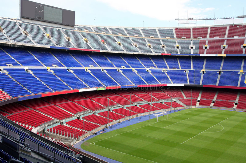 View of Nou Camp Stadium in Barcelona royalty free stock image