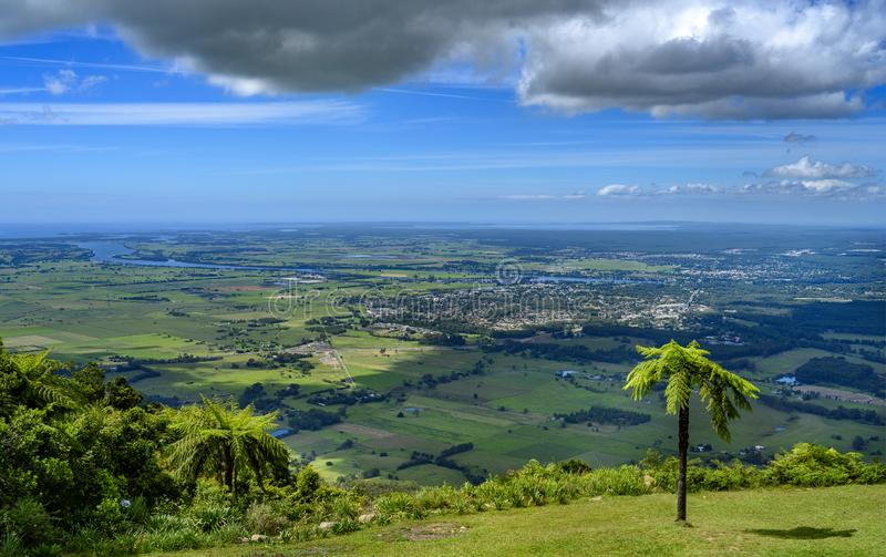View of Nowra from Cambewarra Mountain Lookout stock images