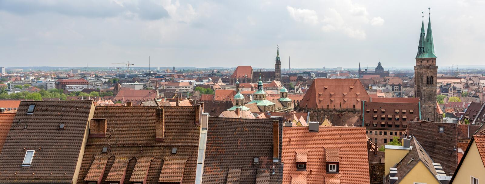 View of Nuremberg from the castle royalty free stock photo