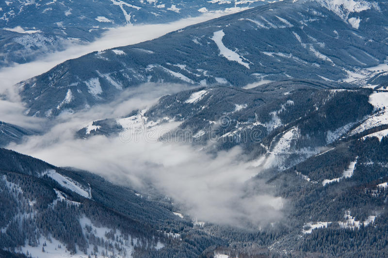 View from observation deck on Dachstein glacier stock image