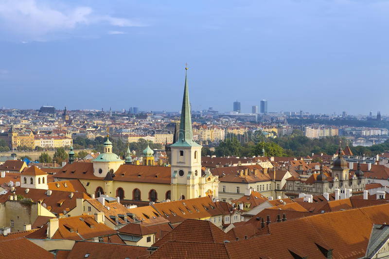 View from the observation deck on the old city, Prague, Czech Republic stock photos