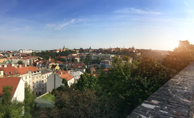 View from the observation deck on the old city, Prague, Czech Republic royalty free stock photo
