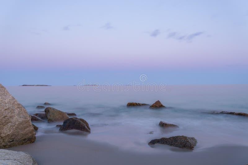 View of Ocean Beach. (Crystal Crescent Beach, Nova Scotia, Canada stock photo