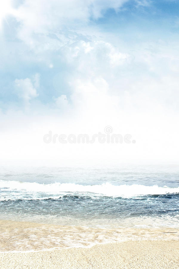 View Of The Ocean From Sandy Beach Stock Photography