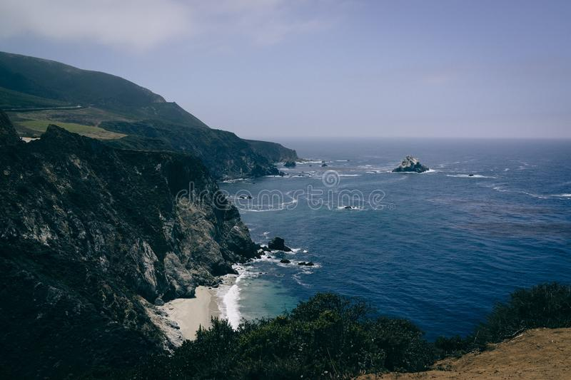 View Of Ocean Water From Mountain Cliff During Daytime Free Public Domain Cc0 Image