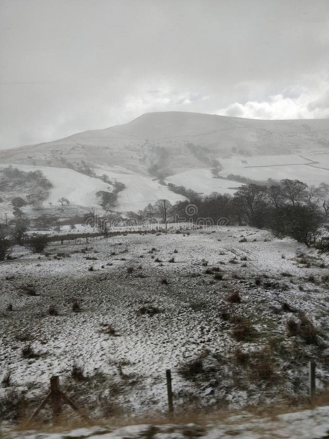 View on the pennines in snow royalty free stock photo