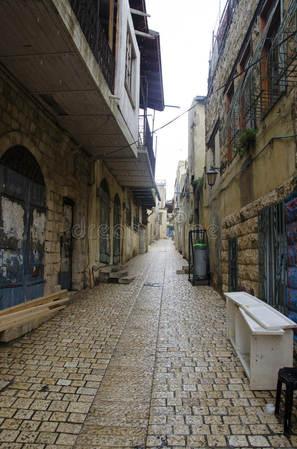 Free View Of A Alley In Old Safed Stock Photography - 50817932