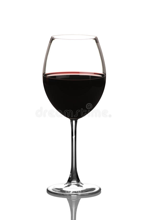 Free View Of A Red Wine Glass Stock Image - 16843771