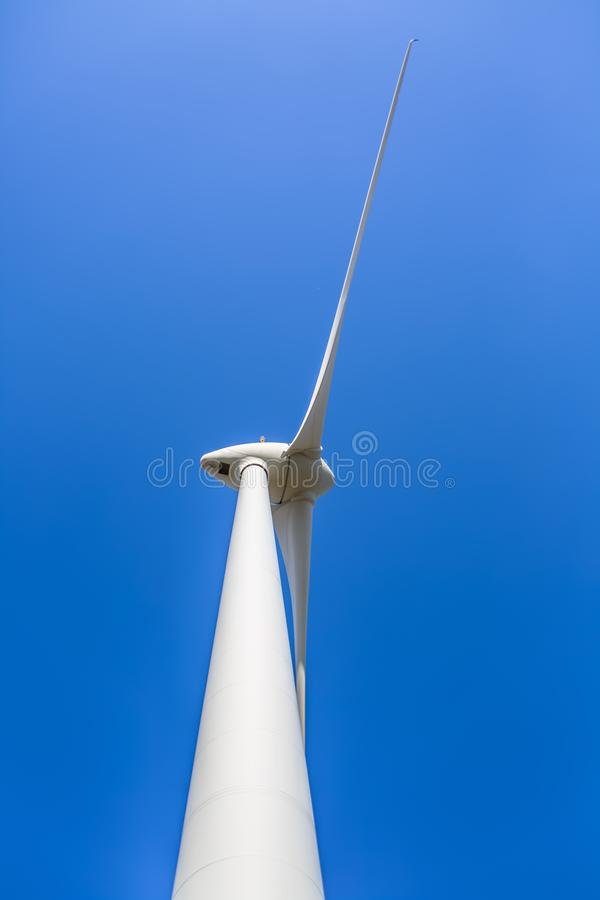 Free View Of A Wind Turbine On Top Of Mountains Royalty Free Stock Photography - 158048127