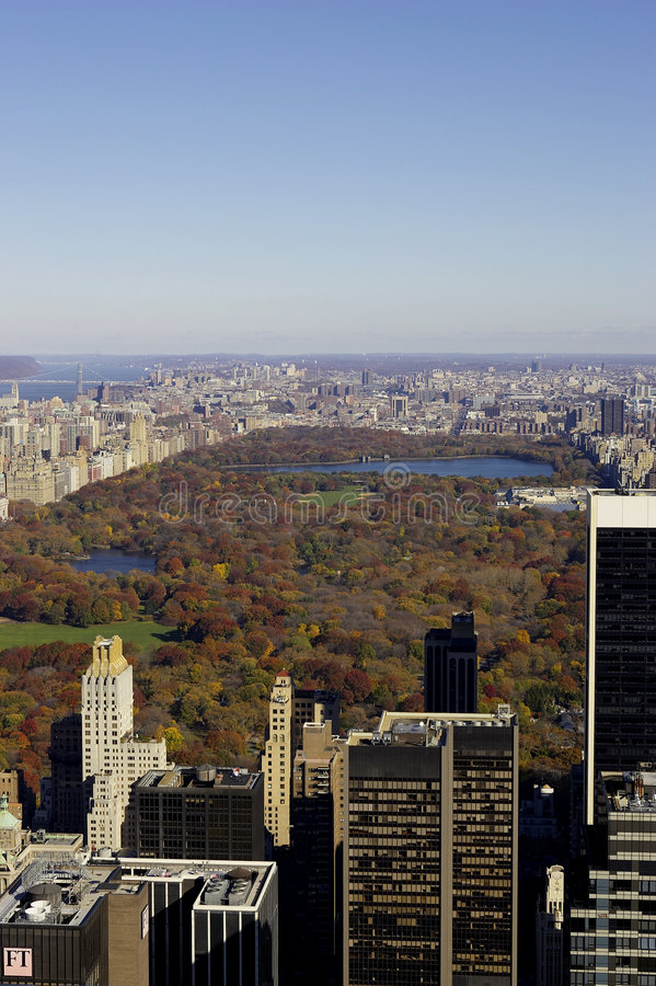 Free View Of Central Park From The Roof Of The Rockefeller Building Royalty Free Stock Image - 369866