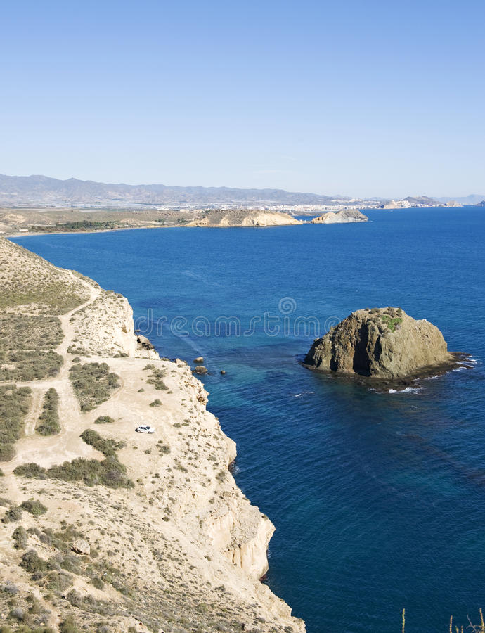 Free View Of Coastline Between San Juan And Aguilas Stock Photos - 12777803