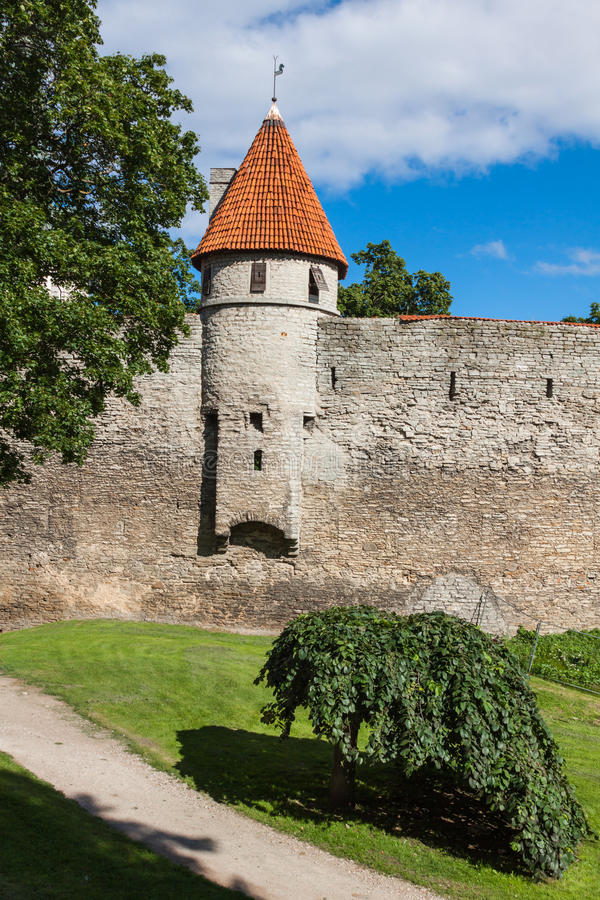 Free View Of Fortress Towers And Church On Sky Background. Tallinn. E Stock Photos - 39943903