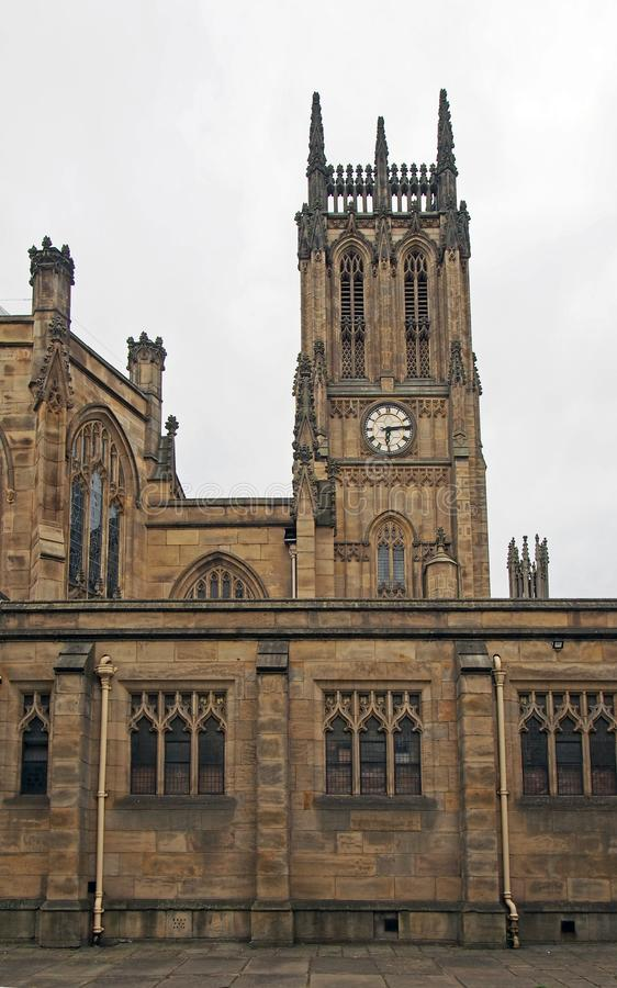 Free View Of Leeds Minster With Tower And Architectural Details From The Street Royalty Free Stock Photos - 154279038