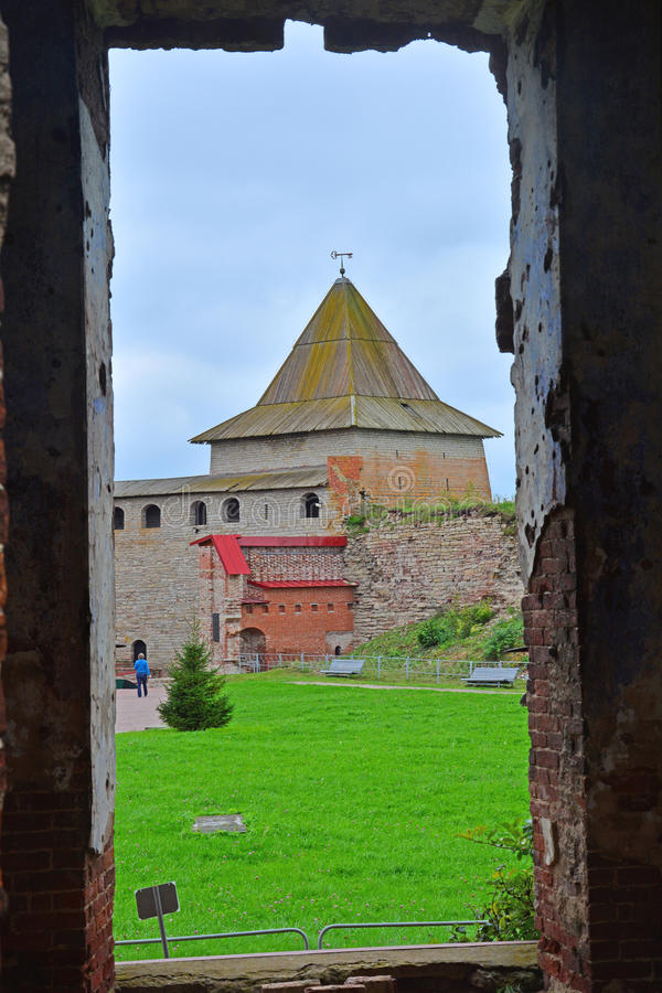 Free View Of Monarchic Tower From Ruined Temple In Fortress Oreshek Near Shlisselburg, Russia Stock Photo - 79294040