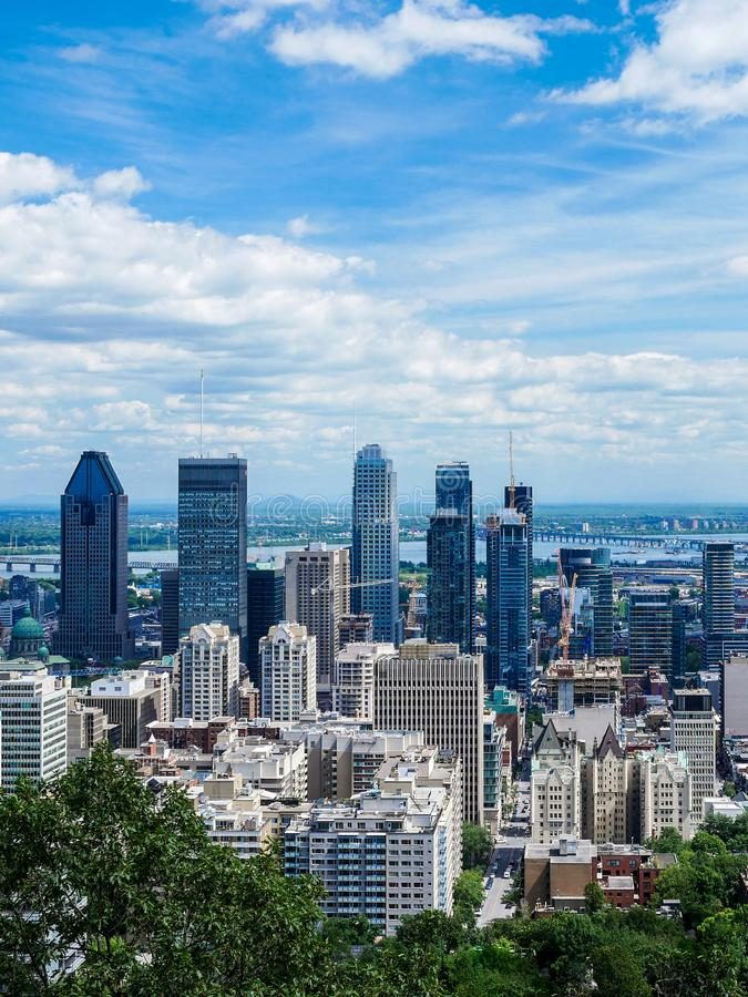 Free View Of Montreal Downtown, Quebec, Canada Royalty Free Stock Photos - 110411258