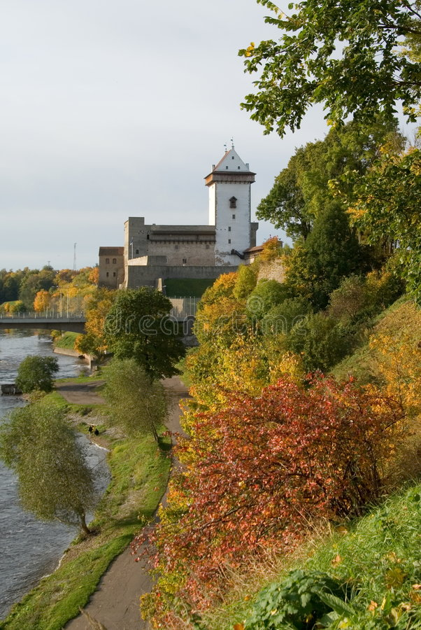 Free View Of Narva Herman Castle Royalty Free Stock Photos - 8018388