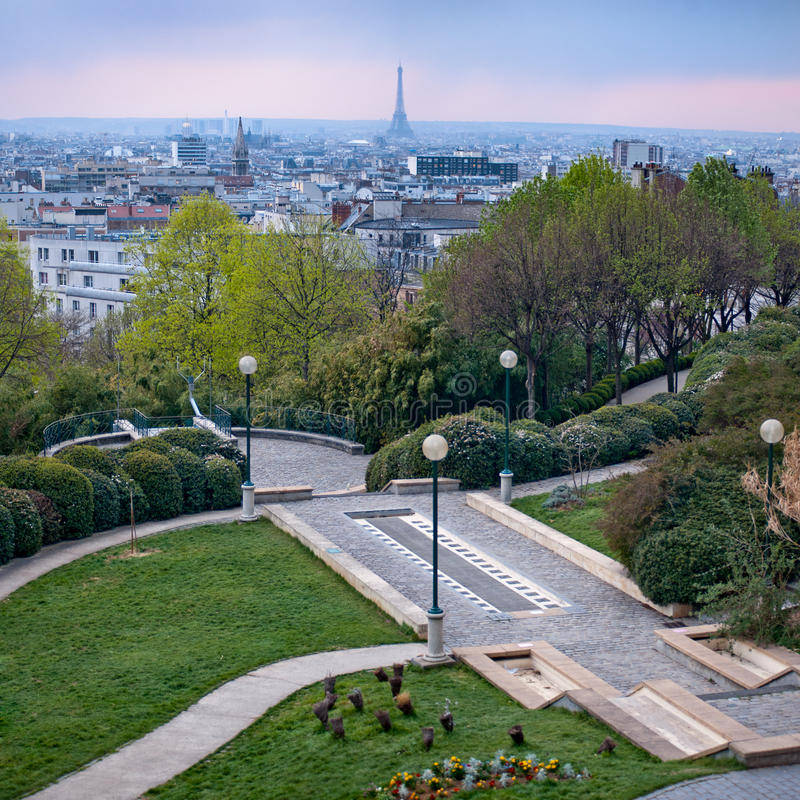 Free View Of Paris And From Belleville Par Royalty Free Stock Images - 24242799