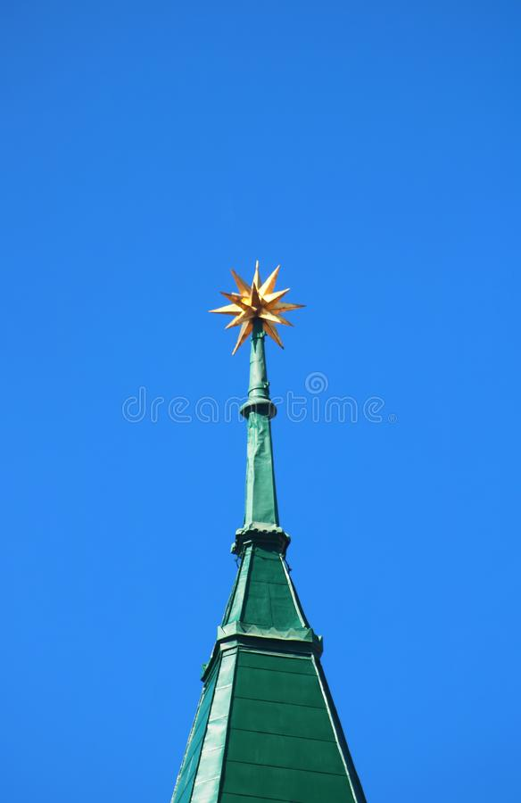 Free View Of Spire With A Star Of The Calvinist Church In The SNP Square, Bratislava, Slovakia Royalty Free Stock Images - 166688659