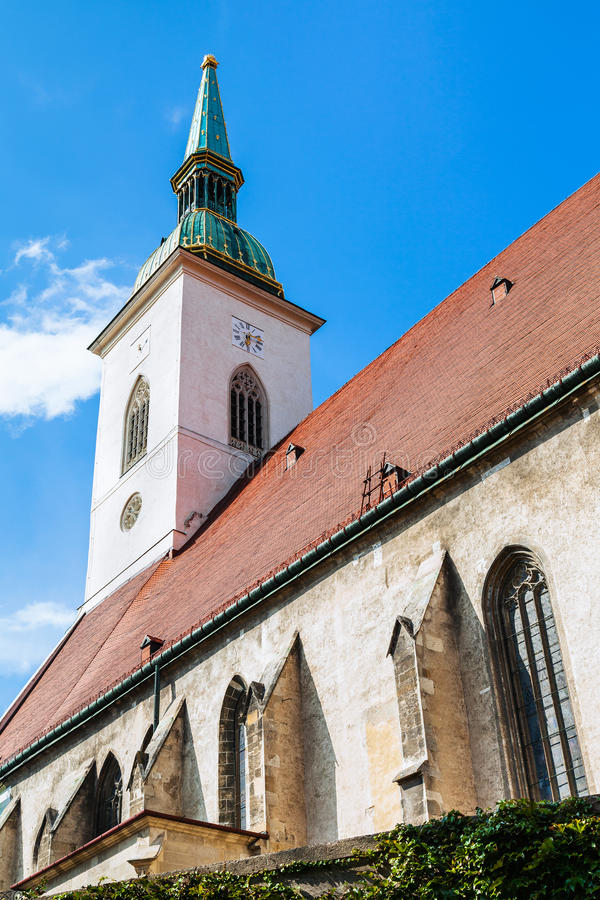 Free View Of St. Martin Cathedral In Bratislava Town Royalty Free Stock Photography - 61289487