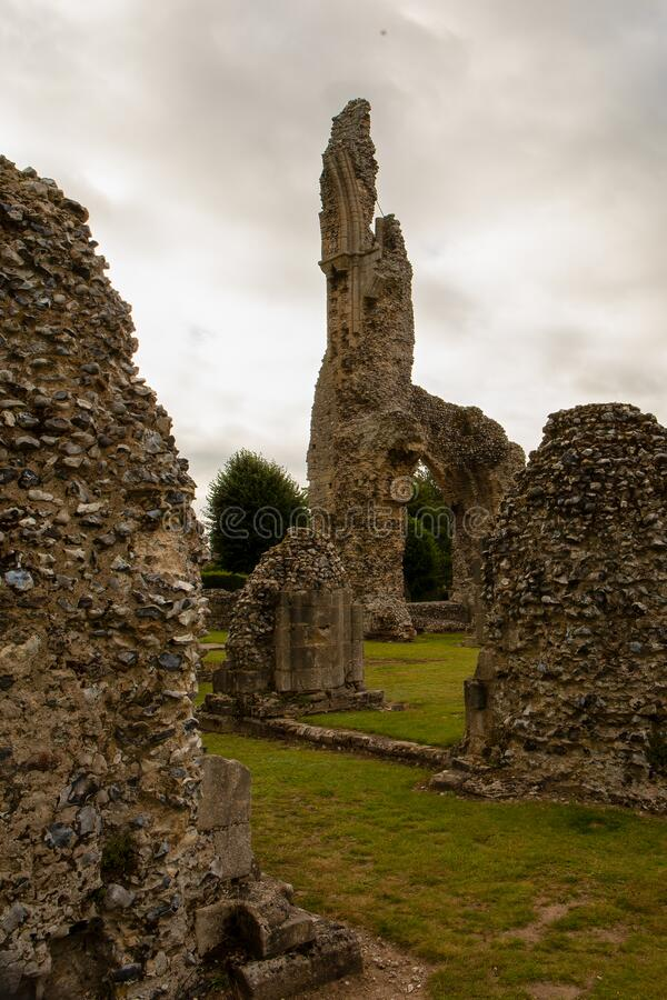 Free View Of Tallest Archway At The Medieval Ruins Of  Thetford Priory.Norfolk, UK Royalty Free Stock Photos - 193830298