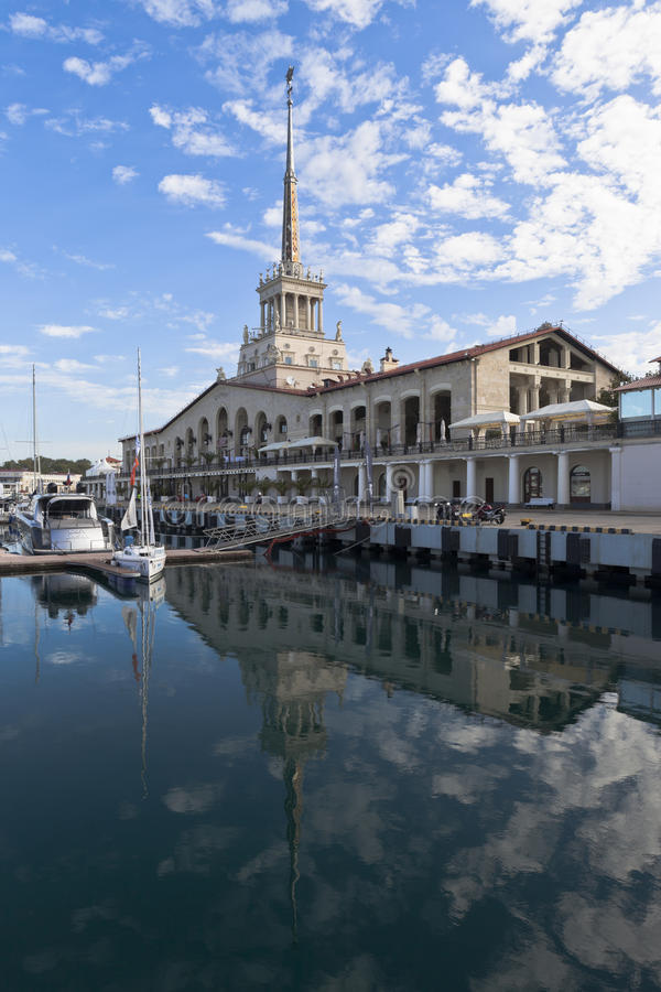 Free View Of The Marine Station Of Sochi Stock Photos - 77183133