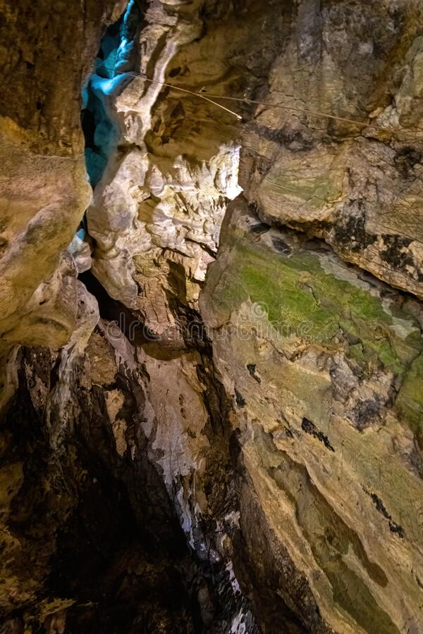 Free View Of The Peak Cavern, Also Known As The Devil`s Arse, In Castleton, Derbyshire, England Stock Image - 202837581