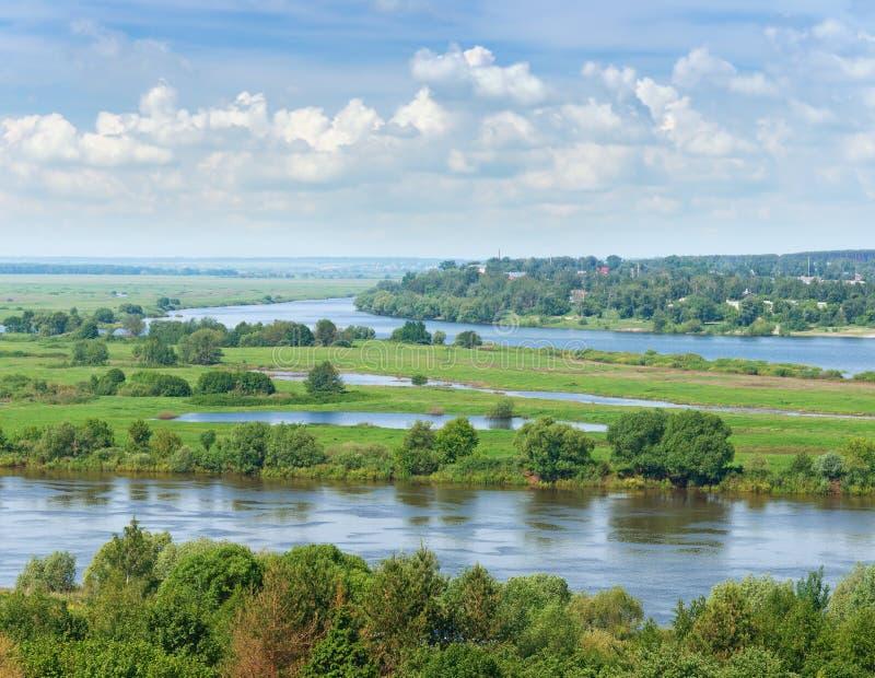 View Oka River. Central Russia. View Oka River (Volga tributary) near Spassk-Ryazansky town. Ryazan region, Central Russia stock photography