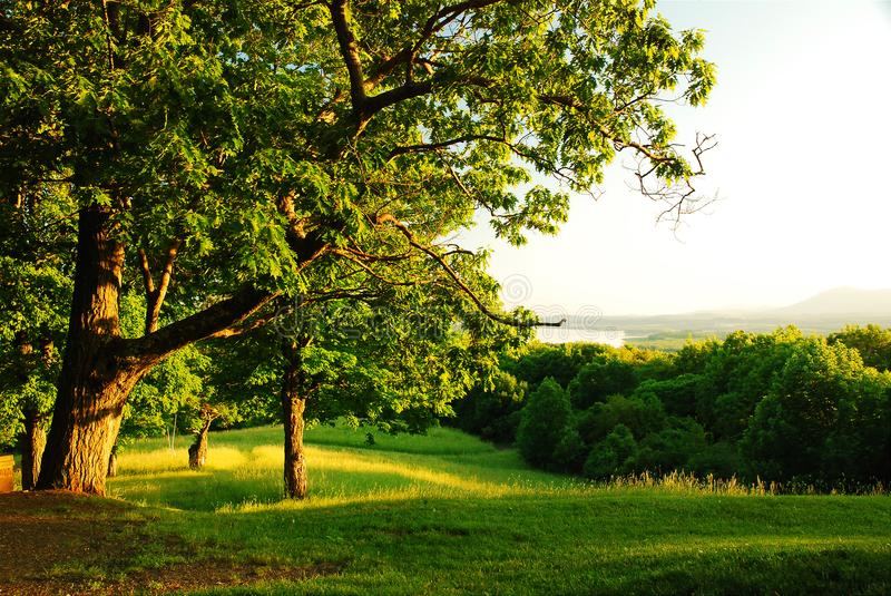 Bucolic View. The view from Olana State park is stunning stock photos