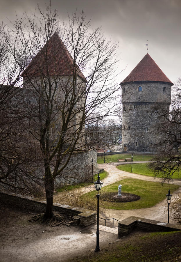 Download View On Old City Of Tallinn Stock Image - Image: 14438853