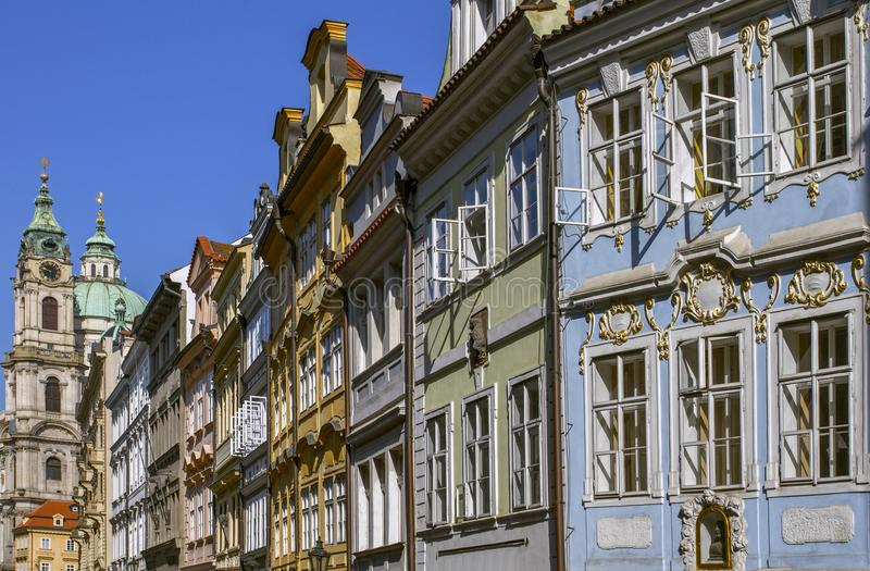 View on old city .Traditional medieval buildings .Sunny Morning. Prague, Czech Republic. royalty free stock photos
