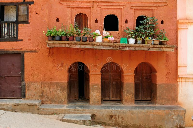 Tansen city in Nepal. View of the old district of the Tansen city in Nepal stock image