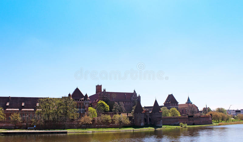 View On Old German Castle In Malbork. Royalty Free Stock Photography
