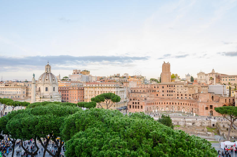 View of the old historic part of Rome royalty free stock images