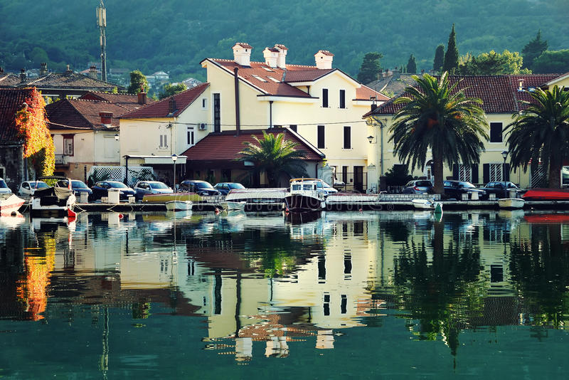 View of old houses of Kotor, Montenegro stock photos