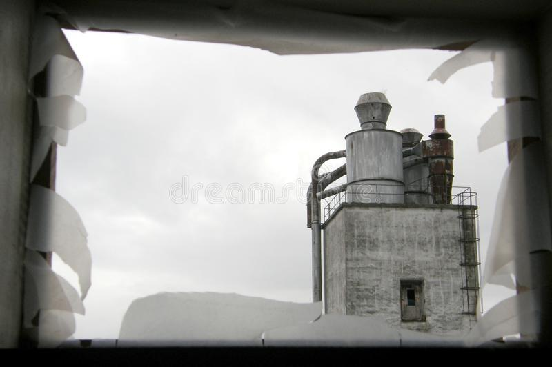 View on an old industry building royalty free stock photo