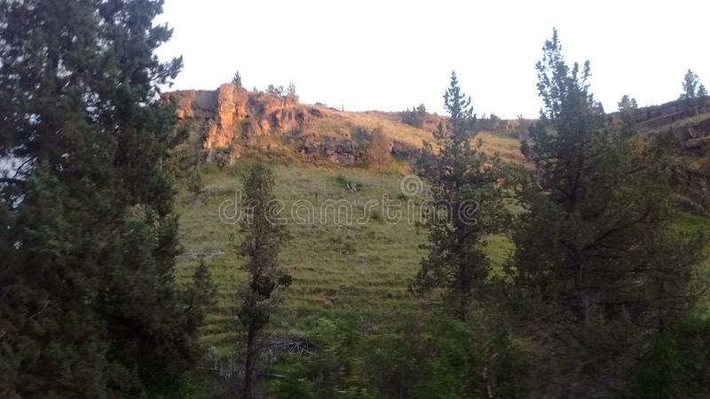 View from the old stagecoach roads near Ashwood, Oregon royalty free stock photo