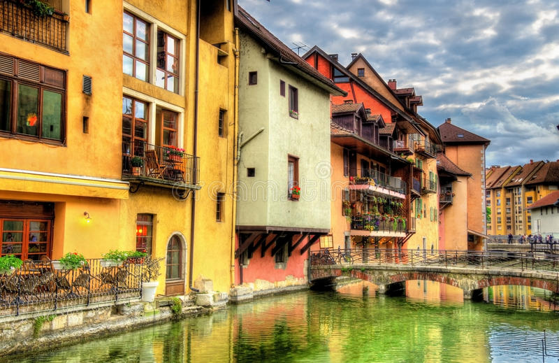 View of the old town of Annecy royalty free stock image