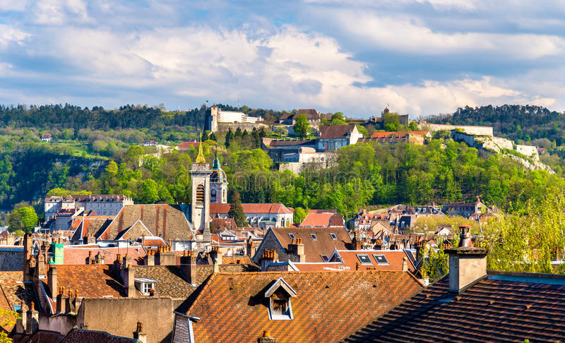 View of the old town of Besancon - France. Doubs royalty free stock photography