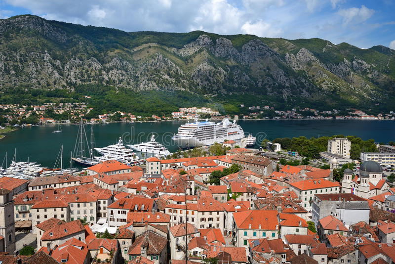 View on old town Kotor royalty free stock photos