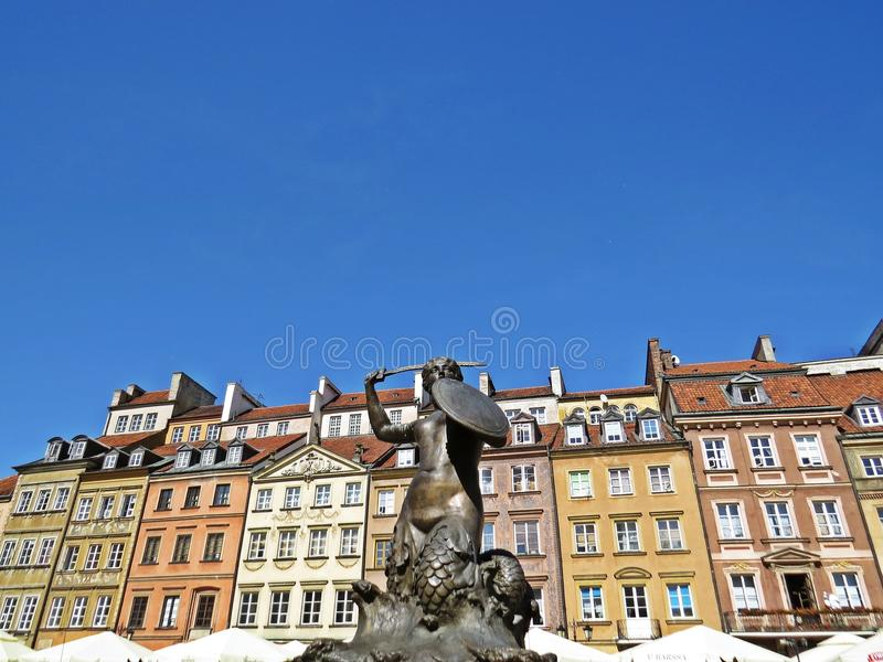 View at Old Town Market Square, Warsaw, Poland. View at the Old Town Market Square, Warsaw, Poland stock image
