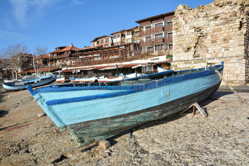 View of old town Nesebar, Bulgaria royalty free stock images