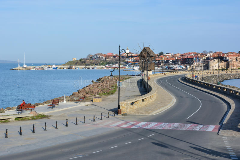 View of old town Nessebar, Bulgaria stock image