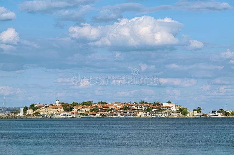 View of the Old Town of Nessebar, Bulgaria stock images