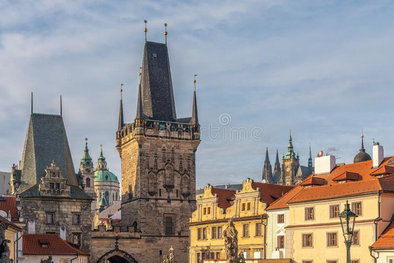 View of old town in Prague, Czech Republic.  royalty free stock photos
