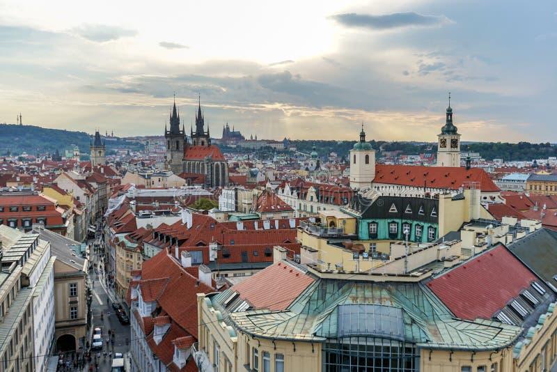 Old town of Prague stock image