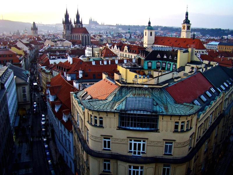 Prague from above stock images
